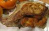 Свинина на косточке фаршированная хурмой и яблоками»>